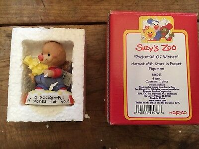 "Suzy's Zoo ""Pocket Full Of Wishes"" Figurine. 3"" New In Box. Vintage."