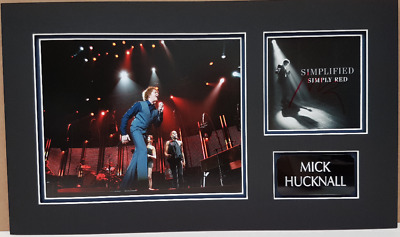 SIMPLY RED personally signed CD cover - Mounted & matted - MICK HUCKNALL