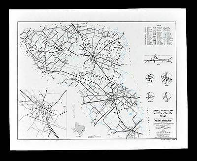 Texas Map Austin County Sealy Belleville Town Plan Sealy Wallis Cat Spring Ulm