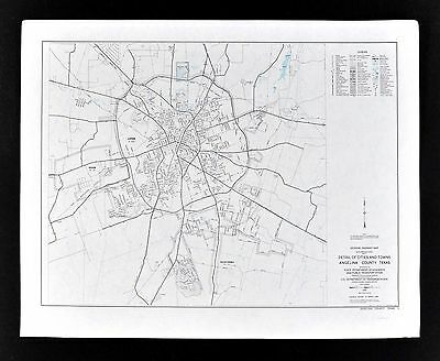 Texas Map - Lufkin Hudson Town Plan - Angelina County - State Highway Department