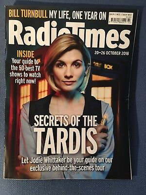 Radio Times   Magazine  20  October  2018   Doctor Who  Jodie Whittaker