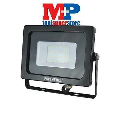 Faithfull Power Plus SLWM20 SMD LED Wall Mounted Floodlight 20W 1600 Lumens 240V