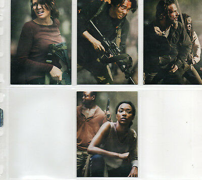 The Walking Dead Season 4 Part 2  - 4 Card Poster Chase Set EX 2016 Cryptozoic