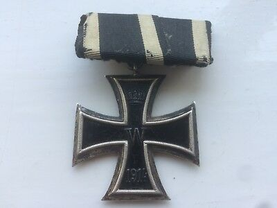 smart looking original WW1 era german iron cross medal and ribbon