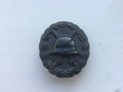 smart looking original WW1 era german wound badge in black