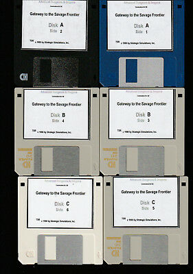 Commodore 64/128 - Gateway to the Savage Frontier - 3.5 inch Disks for the 1581