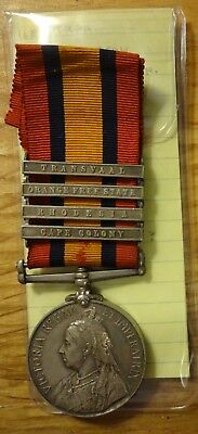 QUEEN'S SOUTH AFRICA MEDAL   NEW ZEALAND  MR.R.   4 Bars