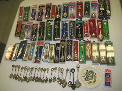 Souvenir Spoon Collection 69 Pieces Of Collectors Spoons From Around The World