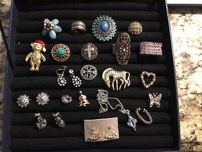 Lot Of Vintage Estate Jewelry. Cocktail Rings Fashion Jewelry , Nice!! Lot# 3