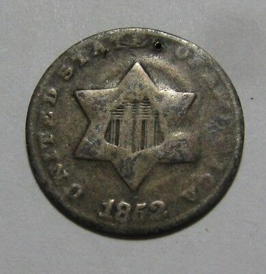 1852 Three Cent Silver - Circulated Condition - 39SA-2