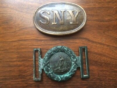 Reproduction Civil War Belt Buckles (SNY and CS Virginia)