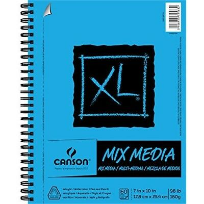 Canson XL Series Mix Media Paper Pad, Heavyweight, Fine Texture, Heavy Sizing -