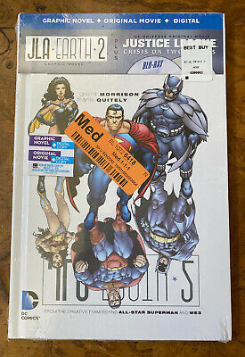Justice League: Crisis on Two Earths (Blu-ray Disc, 2015, 2-Disc Set) Book #A4