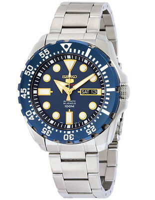Seiko 5 Sports SRP605 Men's Stainless Steel Blue Dial 100M Automatic Watch