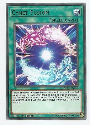 Cynet Fusion SOFU-EN050 Rare Yu-Gi-Oh Card English 1st Edition New