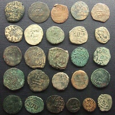 ISLAMIC Ancient and Medieval Lot of 26 Bronze and copper coins Various dynasties