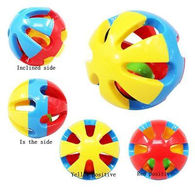 2pcs Baby Newborn Little Loud Jingle Rattle Rolling Ball Ring Bell THasp Toy LC