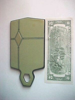 Art Deco green Celluloid HAND MIRROR vintage Dressing Table vanity Accessory