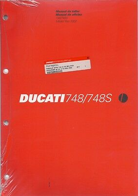 2002 Ducati 748 S 91470291G factory workshop manual BRAND NEW Spanish/Portugese*