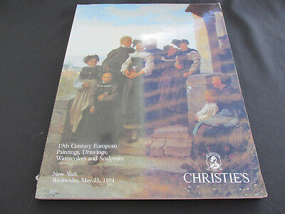 Christies Auction Catalog- 19th Century European Paintings Drawings Watercolors