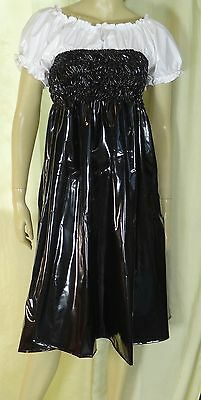 mini kleid dress rock skirt vestito gonna black  PVC L adult Neu Diargh