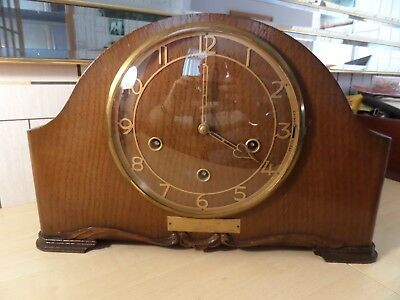 Nice Vintage Smiths Enfield Chiming Mantle Clock In Good Running Condition