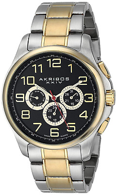 Akribos XXIV Men's Ultimate Analogue Display Swiss Quartz Watch with Stainless S
