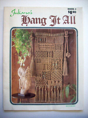 Juliano's Hang it all macrame pattern wallhanging bags 80 knots w diagrams