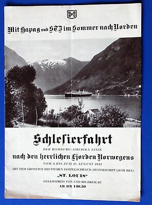 Prospekt Dampfer St.Louis Norwegen 1935