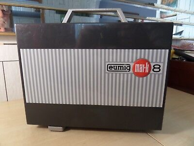 """SUPER VINTAGE """"EUMIG MARK 8"""" MOVIE PROJECTOR FOR STD 8, SUPER 8 AND SINGLE 8mm"""
