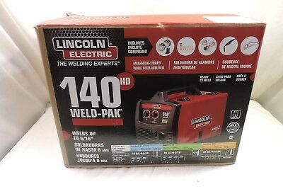 Brand New! Lincoln 140Hd Weld-Pak Mig/flux-Corded Wire Feed Welder ~