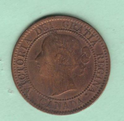 1859 Canada Large Cent- Narrow 9- late 9 variety - see photos and description