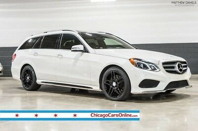 2014 Mercedes-Benz E-Class  14 E350 Sport Wagon Diamond White Chestnut Lighting Park Assist Panorama 18s