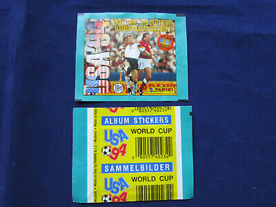 Panini WM WK WC 1994 USA 94, dt./German, packet/Tüte/bustina, white back, RARE