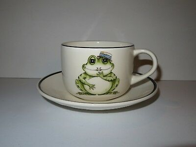 Arthur Wood Back To Front Large Cup And Saucer - Frog