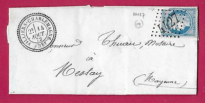 N°60 Gc 4427 Villiers Charlemagne Mayenne Cad Type 24 Meslay Lettre Cover