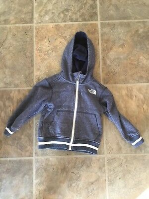 The North Face Toddlers Hooded Zip Up Jacket Sz 3T Blue, Fleece Lined