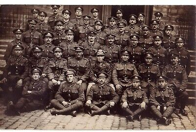 WW1 group postcard West Yorkshire Regiment  with officer