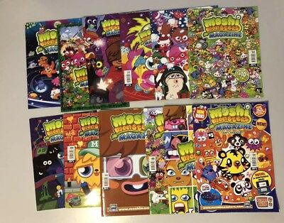 Moshi Monsters Magazine Issues Bundle - Issue 3, 5-15. Super Rare.