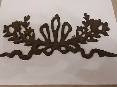 Ornate Brass Garland Ormalu Furniture Wall Pediment Ribbon Design 14""