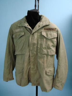 Us Army Soldier Mens Solid Green Military Field Jacket Heavy Duty Double Liner