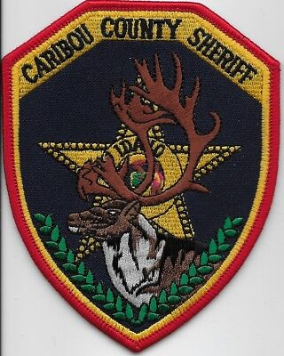 Caribou County Sheriff State Idaho ID patch Colorful