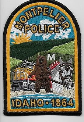 Montpellier Police State Idaho ID patch TRAIN Colorful