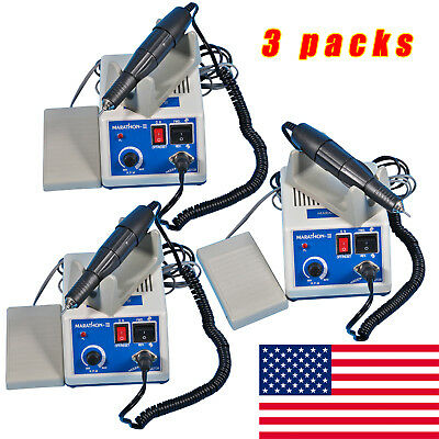 3 Kit Marathon Dental Lab Electric Polishing Micromotor Drilll+35K RPM Handpiece