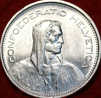 Uncirculated 1967 Switzerland 5 Francs Silver Foreign Coin