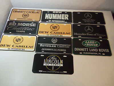 Lot 10 License Plates FLORIDA DEALERS Mercedes-Benz HUMMER Cadillac LAND ROVER