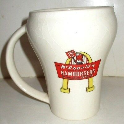 ALWAYS COCA COLA McDONALDS CERAMIC COFFEE MUG RETRO HAMBURGER LOGO CLASSIC COKE