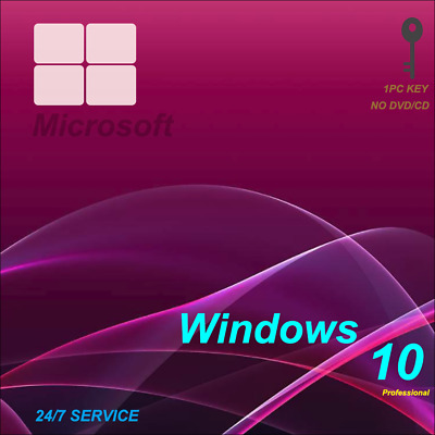 Instant Windows 10 Professional Pro 32|64 Bit Genuine Activation Key Microsot