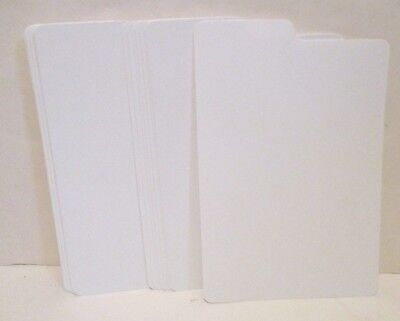 White Plastic Comic Book Tabbed Dividers Lot/21 For Comic Book Storage Boxes