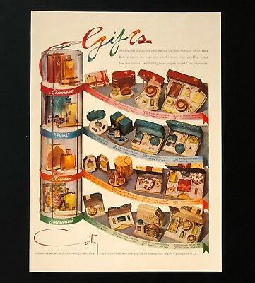 1940 Coty Advertisement Perfume Gifts Vintage Original Print AD